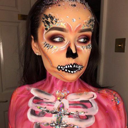 Halloween Makeup Body Paint - Christiane Dowling
