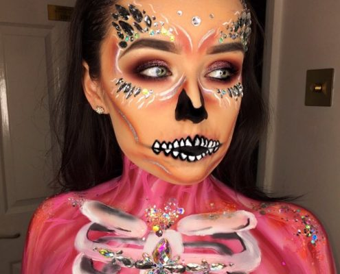 Halloween Makeup Body Paint - Christiane Dowling