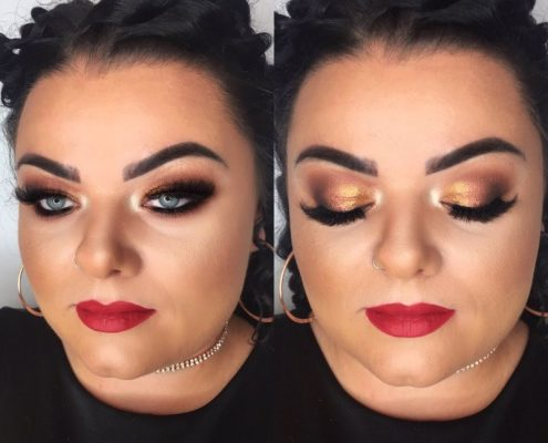 Copper tone makeup - Christiane Dowling Professional Makeup Artist