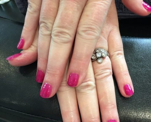 shellac nails in churt