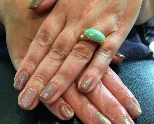 shellac nails in hook