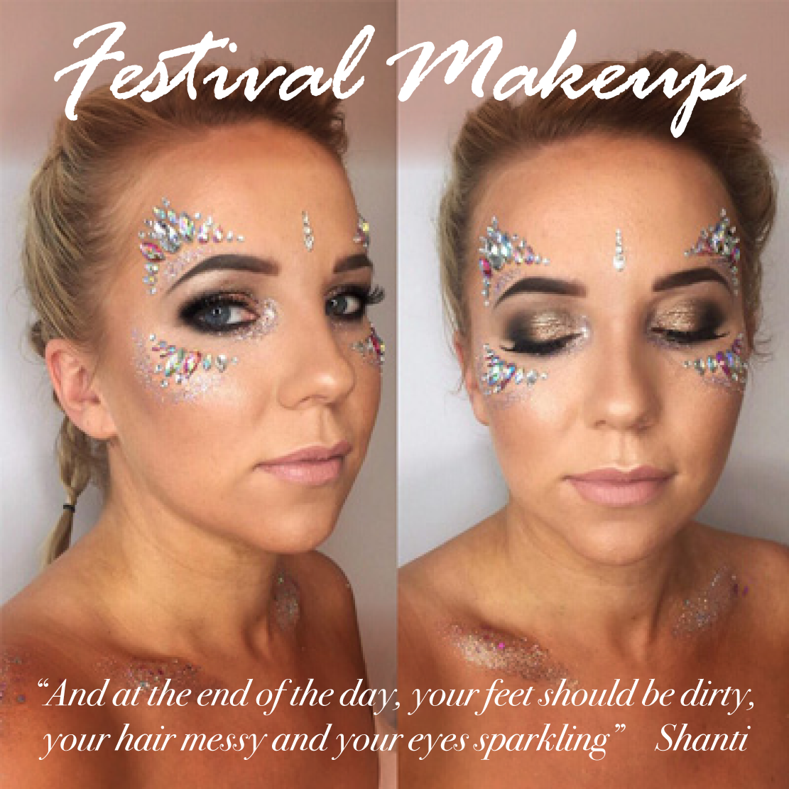 festival makeup prices - christiane dowling