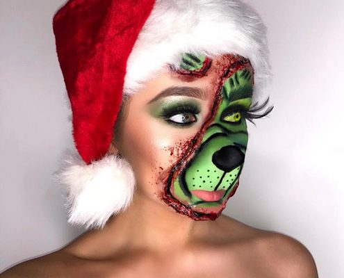 Christmas Makeup - Special Effects Makeup