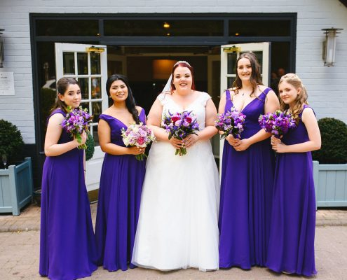 Bridesmaid Makeup at The Potter's Heron in Romsey in Hampshire